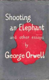 Shooting an Elephant book cover